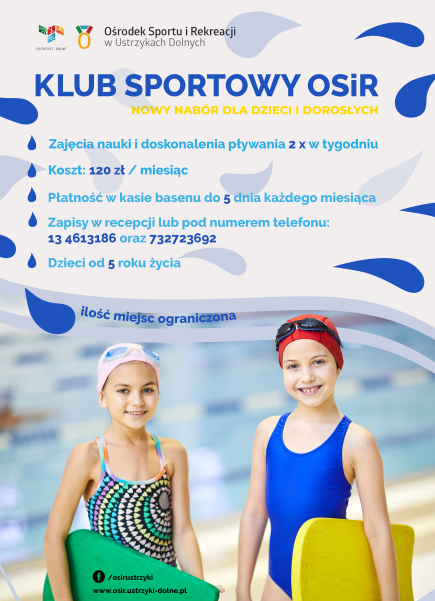 Klub Sportowy OSIR - Nabór  do Szkółki Pływackiej